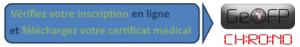 Vérification inscription et chargement certificat médical - TTM 2018